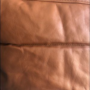 Conhaque Brown Soft Leather Feather Vest • S